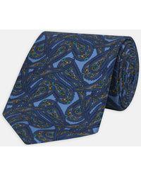 Turnbull & Asser - Blue Paisley Flow Silk Tie - Lyst