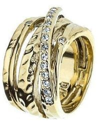 Dyrberg/Kern - Wendolyn Gold Crystal Ring - Lyst