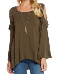 Chaser - Cold Shoulder Ruffle Top - Lyst