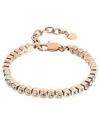 Dyrberg/Kern - Cony Rose Gold Crystal Bracelet - Lyst