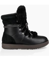 UGG - Women's Viki Waterproof Shearling & Leather Boots - Metal - Size 8.5 - Lyst
