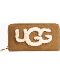 UGG - Women's Honey Zip Sheepskin Wallet - Lyst