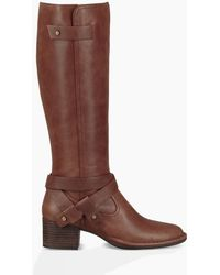 UGG - Women's Bandara Leather Tall Boot - Lyst