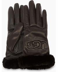 UGG - Women's Classic Leather Logo Glove - Lyst
