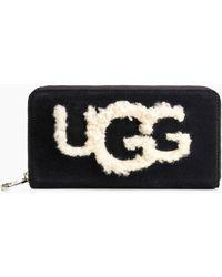 UGG - Honey Sheepskin Wallet - Lyst