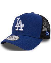 KTZ - Los Angeles Dodgers Heather Trucker Snapback Baseball Cap - Lyst 0f79a6ebc8b6