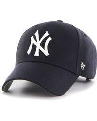 25e0dc30650 47 Brand - Mlb New York Yankees  47 Mvp Adjustable Velcro Strap Baseball Cap  -