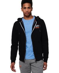 e737cdbf4aa5 Stussy Zip Through Hoodie With International Back Print in Black for ...