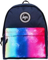 23dd657dc9af Hype - Rainbow Fade Pocket Backpack Bag Blue - Lyst