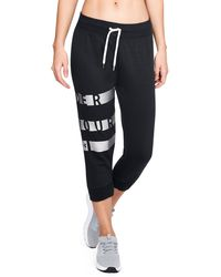 Under Armour - Women's Ua Favorite Fleece Graphic Capris - Lyst