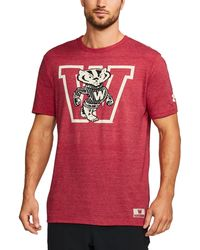 Under Armour - Men's Wisconsin Ua Iconic Tri-blend T-shirt - Lyst