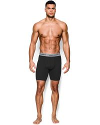 "Under Armour - Men's Charged Cotton® Stretch 9"" Boxerjock® 3-pack - Lyst"