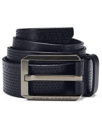 Under Armour - Laser Perf Leather Belt - Lyst