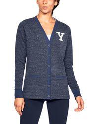 Under Armour - Women's Yale Ua Iconic Cardigan - Lyst