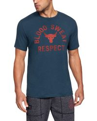 Under Armour - Men's Ua X Project Rock Blood Sweat Respect Short Sleeve T-shirt - Lyst