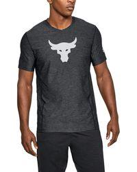 Under Armour - Men's Ua X Project Rock Supervent T-shirt - Lyst