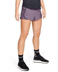 82b016693 Under Armour Women's Ua Challenger Ii Knit Shorts in Red - Lyst
