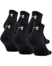 Under Armour - Ua Charged Cotton® 2.0 Quarter Length Socks - Lyst