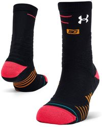 0856f95f10a Under Armour - Men s X Stance Curry 6 Mid Crew Socks - Lyst