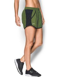 Under Armour | Women's Ua Fly-by Printed Run Short | Lyst