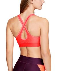 Under Armour - Women's Armour® Mid Crossback Patterned Sports Bra - Lyst