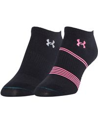 Under Armour - Women's Ua Grippy Iii No Show Socks 2-pack - Lyst