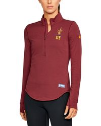Under Armour - Women's Nba Combine Authentic Charged Cotton® 1⁄2 Zip - Lyst
