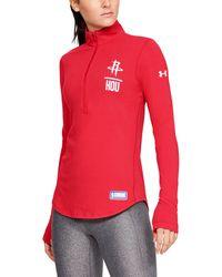 Under Armour - Women's Nba Combine Authentic Ua Lockup 1⁄2 Zip Long Sleeve - Lyst