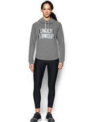 Under Armour - Women's Ua Fashion Favorite Word Graphic Pullover - Lyst