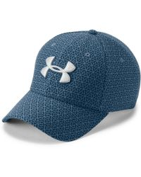 d3d7d8f2187 Lyst - Under Armour Men s Ua Undeniable Stretch Fit Cap in Blue for Men