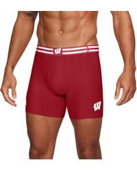 "Under Armour - Men's Wisconsin Ua Original Series 6"" Boxerjock® - Lyst"
