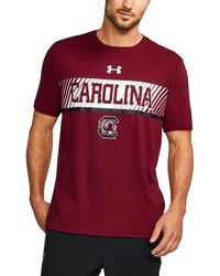 Under Armour - Men's South Carolina Charged Cotton® T-shirt - Lyst