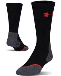 8719e7115 Lyst - Under Armour Men's Ua All Season Wool Mid Crew Socks in Gray ...