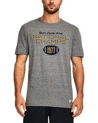 Under Armour   Men's Notre Dame Ua Iconic Tri-blend T-shirt   Lyst