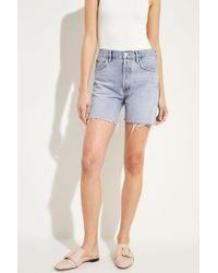 Agolde - Jeans-Shorts 'Rumi' Blau 100% Baumwolle - Lyst
