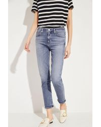 Citizens of Humanity - Ankle High Rise Slim 'Harlow' Blau - Lyst