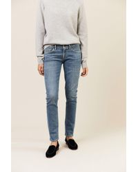 Citizens of Humanity - Low Rise Skinny Jeans 'Racer' Blau - Lyst