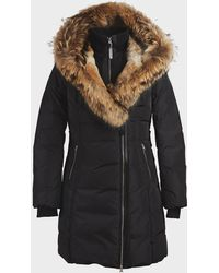 Mackage - Trish Mid Length Down Coat With Fur - Lyst