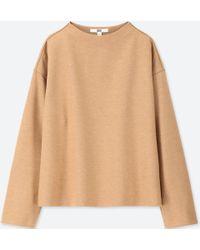 Uniqlo - Women Wool-blend Long-sleeve Pullover - Lyst
