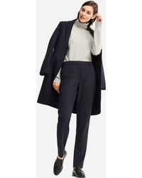 Uniqlo - Ezy Tweed Chalk Stripe Trousers - Lyst