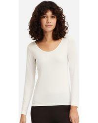 2ffb56d2 Uniqlo - Women Airism Uv Cut Scoop Neck Long-sleeve T-shirt - Lyst