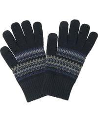 Uniqlo - Men Heattech Knit Gloves (fairisle) - Lyst
