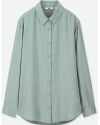Uniqlo - Women Rayon Long-sleeve Blouse - Lyst