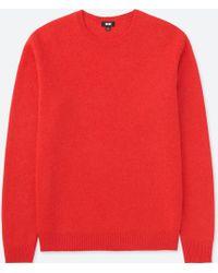 Uniqlo - Men Premium Lambswool Crewneck Long-sleeve Sweater - Lyst