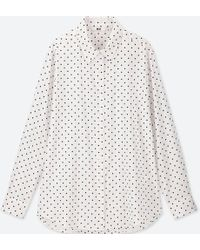Uniqlo - Women Rayon Printed Long-sleeve Blouse - Lyst