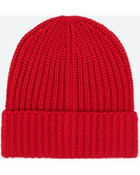 c8510e30dd4 Lyst - Uniqlo Heattech Knitted Cap in Red for Men