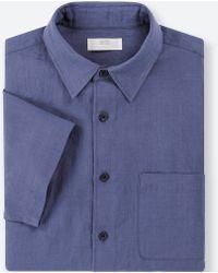 Uniqlo - Men Linen Cotton Short-sleeve Shirt - Lyst