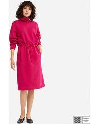Uniqlo - Women U Sweat Turtleneck Long-sleeve Dress - Lyst