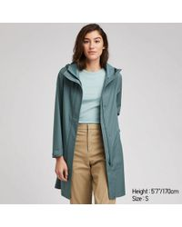 8a8efbe86d47 Uniqlo Women Wool Ribbed Knitted Coat in Blue - Lyst