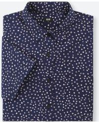 Uniqlo - Men Broadcloth Printed Short-sleeve Shirt - Lyst